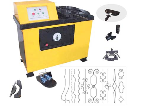 Hydraulic moulder wrought iron work machine