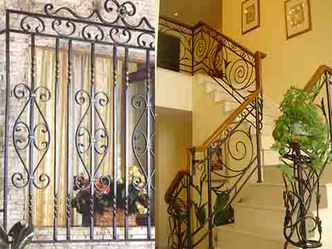 wrought iron bending machine finished product